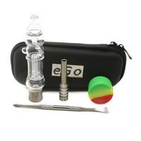 2018 Nouvelle arrivée Micro Dab verre paille Pipes main Mini Bongs avec pot en silicone ongles titane Dabber Boîte à outils cadeau Pipe de Verre
