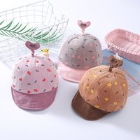 Nuovo stile bambino esterna dei cappelli di Sun bambini berretti da baseball in velluto a coste lingua d'anatra Cappelli per bambini protezioni della sfera per ragazzi e ragazze all'ingrosso 0075HT
