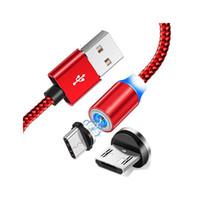 360 강한 금속 자석 마이크로 USB 케이블 꼰 2A는 빠른 안드로이드 타입 C 스마트 폰 삼성 S9에 대한 HTC 화웨이 샤오 미를 들어 코드를 충전