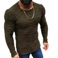Lunoakvo 2019 Maglione caldo Donna Moda Solido O-Collo Maglioni slim fit Uomo Autunno Manica lunga Inverno Plus Size Abbigliamento uomo