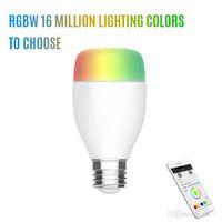 새로운 6 와트 E27 240 볼트 와이파이 LED 전구 지원 에코 알렉사 음성 램프 무선 홈 자동화 밍이 뮤지컬 램프 RGB 색상