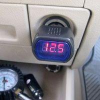 الرقمية lcd ولاعة السجائر الجهد متر مراقب سيارة فولت الفولتميتر شحن مجاني