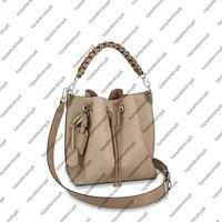 M55906 M55800 موريا دلو حقيبة النساء قماش حقيقي العجل الفضة الأجهزة حقيبة محفظة حزام الكتف حقيبة عبر الجسم