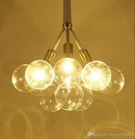 الكرات الزجاج الحديثة أدى قلادة مصابيح الثريات ضوء للمعيشة غرفة الدراسة غرفة دراسة المنزل ديكو شنقا الثريا مصباح تركيبات