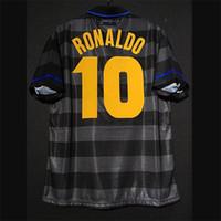Inter Retro 1997/98 Ronaldo Djorkaeff Zamorano Zanetti Moriero Recobrsa Futebol Jerseys Vintage Milão Kit Camisa Clássica