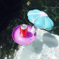 Mini Inflatable Drink Can Holder PVC Floating Umbrella Swimm...