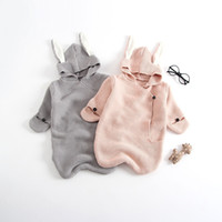 New Baby Rabbit Ears Knitted Sleeping Bag lenth 2 colors for...