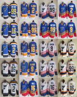 Reto Louis Blues Formalar 2 Al MacInnis 99 Wayne Gretzky Jesey 16 Brett Hull Shayne Corson Vintage CCM Dikişli Man hokey Formalar