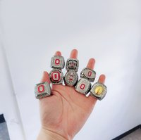8PCS Ohio State Buckeyes Campione nazionale Campionato Anello Set solido uomini Fan Brithday regalo all'ingrosso Drop Shipping
