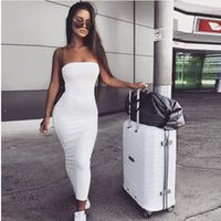 Club Party Sexy Beach Club vestidos pretos Noite Branca Vestido Envelope Bandage Dress For Women Clothing 2020 Mulheres de Verão