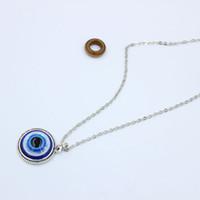 Turco símbolo malvado ojos azules collar collar resina bead colgante collar mujeres hombres nazar pavo árabe islámico afortunado encanto regalo S205