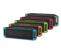 SC208 SC208 Mini Taşınabilir Bluetooth Hoparlör Kablosuz Akıllı Eller serbest Hoparlör Büyük Güç Subwoofer Destek TF ve USB FM Radyo DHL