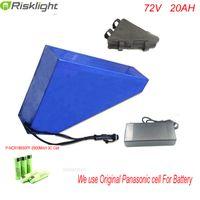 72V 3500 / 3000W ebike dönüşüm kitleri + BMS + çanta + 4A şarj için batarya 72V 20Ah Üçgen lityum pil ebike yok vergileri