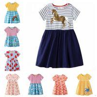 Детские девушки одежда вышитые платья принцессы дизайнер девушка платье с коротким рукавом дети наряды летние Детская одежда 11 конструкций DHW2720
