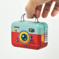 Bagages En forme de bonbonnière Petit étain Vintage sac à main valise boîtes à cadeaux parti rectangle faveurs de mariage 75 * 35 * 55mm