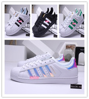 2020 Adidas Superstar Free Shipping White Black Pink Blue Gold Superstars 80s Pride Shoes Super Star Women Men Sport Casual Shoes EU SZ36-45