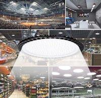 Lampes au LED 500W New Ultra Slim LED UFO haute baie 40000LM lampe 6000-6500K éclairage industriel étanche à la poussière étanche Lampe US Stock en