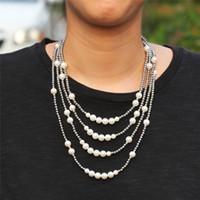 Europa y América Nuevo collar de cadena de moda para hombres Mujeres 16-22 pulgadas 316L Perlas de acero inoxidable Collar Cadena de la joyería caliente regalo para un amigo