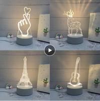 3d بقيادة مصباح الإبداعية 3D أدى أضواء الليل الجدة الوهم ليلة مصباح 3d الوهم الجدول مصباح للمنزل ضوء الزخرفية