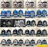 Winnipeg Jets Hockey 29 Patrik Laine 26 Blake Wheeler 25 Paul Stastny 33 Dustin Byfuglien 37 Connor Hellebuyck 55 Mark Scheifele Jersey