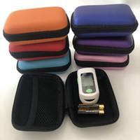 Bunte Finger Oximeter Hart EV Tragbare Hülle Protecive Reißverschlussbeutel Reisetasche Tragetasche für Fingertip Pulsoximeter Kopfhörer Kabelstecker