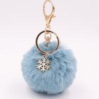 New Design Wholesale Bag Pendant Christmas Snow Flake Plush ...