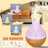 130ml mini lámpara humidificador ultrasónico de niebla Difusor Aroma USB esencial de aromaterapia humidificador Difusor de aceite para Ministerio del Interior del coche