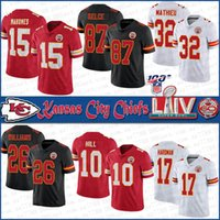 15 Patrick Mahomes Kansas City SUPER BOWL LIV Chief Football jerseys 87 Travis Kelce 32 Tyrann Mathieu 26 Damien Williams 10 Hill 17 Hardman