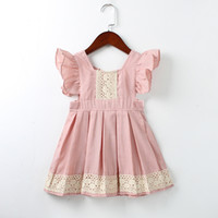 New Baby Girl Clothes Princess Dress Vestiti Ruffles Fly Sleeve Lace Flower Una linea Tutu Party Dress Toddler Kids Fancy Dress 1-6
