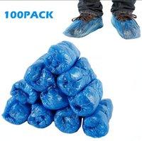 플라스틱 일회용 신발 블루 야외 실내 청소 신발 커버 청소 Overshoes가 보호 신발 커버의 100PCS / 팩 OOA8075 커버