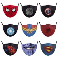 Batman Spiderman Flash Thanos Superheld Adult Designer Luxus Gesichtsmaske Partei Cosplay Masken-Schild wiederverwendbare Staubwinddichtes Cotton Mask
