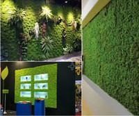 1 Mt breite Künstliche Grüne Moos Gras Matte Pflanzen Faux Rasen Rasen Teppiche für Garten Home Party Dekoration