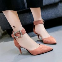 Designer Dress Shoes New 2019 Fine with Buckle Fashion Femal...