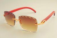 2019 neues heißes quadratische Gravur Objektiv Sonnenbrille 8300177 Sonnenbrille, Art und Weise Sonnenblende, rein natürliche hölzerne Tempel Sonnenbrillen, Privat Brauch