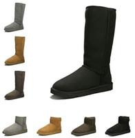 Puros hombres de las mujeres de cuero de piel de invierno la nieve Botas Clásico tobillo Kneel medio de largo Botas Zapatos color del vestido populares casul zapatillas de deporte cargador de la nieve