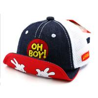 OH BOY Bebek Beyzbol çocukları Caps Snapback Hip Hop Cap Erkekler Kızlar Summer Sun Şapka Gorras planas enfants casquette Gorras czapka