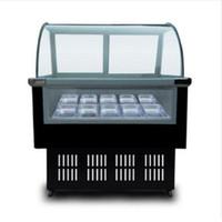 215W 220V acero inoxidable Comercial Helados Vitrina helado de visualización Congeladores 8 barriles redondos o cuadrados 12 barriles congelador
