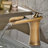 XOXO Waterfall Brass Vanity Sink Faucet Chrome Bathroom Sink...