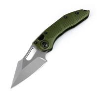 portatif katlanabilir bıçak taktik hayatta kalma bıçak açık Miker bıçak havacılık alüminyum alaşım askeri yeşil kolu D2 çelik bıçak