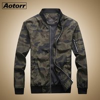 Мужские куртки Aotorr 2021 осенний камуфляж мужские пальто Camo Bomber куртка мужская бренд одежда для одежды Plus Размер M-7XL