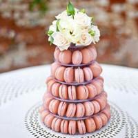 6 Tiers Macaron Torre Bolo Suporte Cupcake Macaroons Ferramentas de Exibição Titular Rack de Decoração de Casamento de Natal Festa de Aniversário Favor