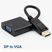DisplayPort Display Port DP para VGA Cable Male to Female Converter for PC computador portátil Monitor HDTV Projetor com Opp saco MQ100