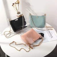 Women Transparent Bucket Bag Clear PVC Jelly Small Shoulder ...