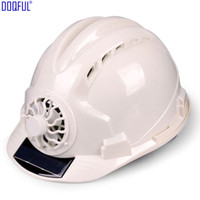 Travail panneau solaire Puissance ventilateur sécurité Casque extérieur Casco De Seguridad Accident Hard Hat Construction en milieu de travail ABS de protection solaire Cap
