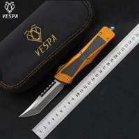 Hohe Qualität VESPA Messer Klinge:S35VN(T/E Satin), Griff:Aluminium + TC4 + CF, Outdoor camping überleben Messer EDC Werkzeuge