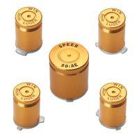 Aleación de aluminio Metal Bullet Button 9mm Luger ABXY y Speer Guide Buttons configurados para el controlador xbox 360 DHL FEDEX EMS ENVÍO GRATIS