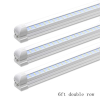 6000K White 6FT 42W Integrated Double Row LED T8 Tube light ...