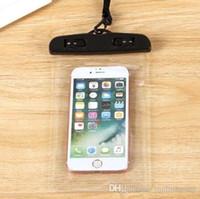 Bolso seco de la bolsa impermeable de PVC caso universal de la bolsa del bolso del teléfono con el compás Bolsas para el buceo Natación smartphones hasta 5,8 pulgadas