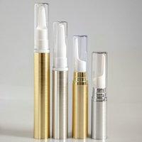 5ml / 10ml argento boccetta di vuoto crema dell'occhio dell'oro COME plastica airless pompa Eye bottiglia crema Crema bottiglia emulsione F3804