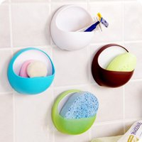 Soap storage box Plastic Suction Cup Soap Toothbrush Box Dis...